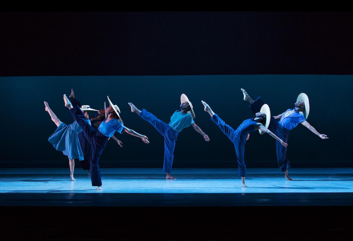 """Alvin Ailey American Dance Theater in """"Members Don't Get Weary"""". Photo by Paul Kolnik."""